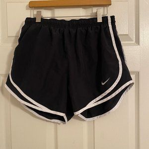 Black and White Nike Running Shorts